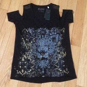 Guess Cold Shoulder Tee